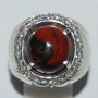 AKK01 - Red & Black Picture Agate