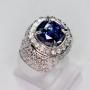 AZ1702 - Cornflower Blue Sapphire Ring