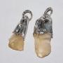 Libyan Desert Glass Silver Earrings - LDG01n02