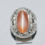 MNS02 - Light Brownish Orange Moonstone