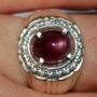 SAM411 - Purplish Red Ruby Ring