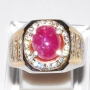 US4462 - Pinkish Red Ruby