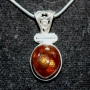 XG2200 - Brown Fire Agate Necklace